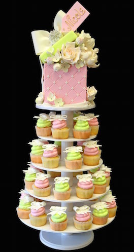 Brides cake made of cupcakes